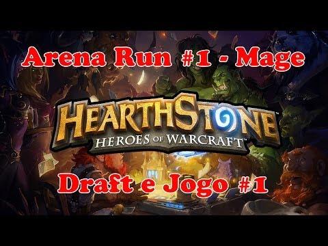 Hearthstone Arena Run #1 - Mage - Draft e Jogo 1 (Em Português)