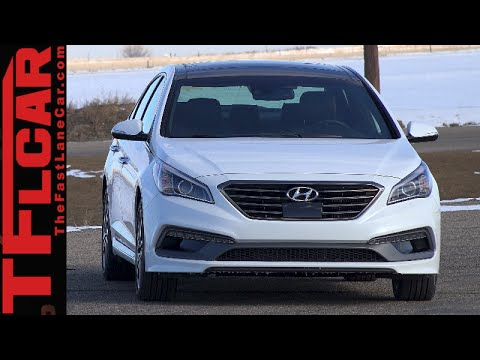 2015 Hyundai Sonata Sport 2.0L Turbo 0-60 MPH Test & Review