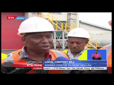 Senator Gideon Moi tables Local content bill to see residents benefit from the new mining bill