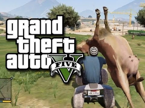 GTA gameplay - GTA 5 Funny Gameplay Moments! (GTA V Gameplay) COW! :D Second Channel - http://www.youtube.com/user/KYRSP33DY My Twitter - https://twitter.com/KYR_SP33DY 5% ...