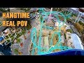 HANGTIME Roller Coaster *REAL* POV! 4K! Front Seat! Knotts Berry Farm