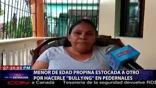 Menor de edad propina estocada a otro por hacerle bullying en Pedernales