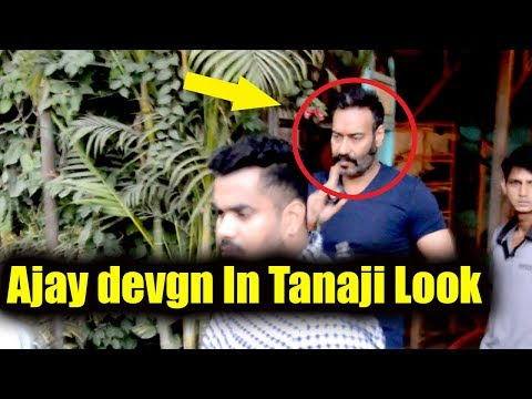 Ajay Devgn Spotted In Tanaji Look
