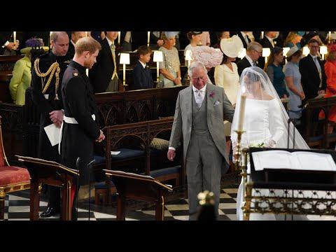 Prince Charles walks Meghan Markle down aisle to marry Prince Harry (видео)