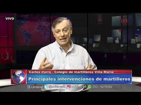 La palabra de Carlos Zurro, secretario del Colegio de Martilleros