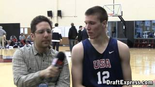 Kaleb Tarczewski DraftExpress - Interview & Highlights - 2012 Nike Hoop Summit