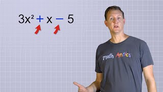 This video introduces students to polynomials and terms.Part of the Algebra Basics Series:https://www.youtube.com/watch?v=NybHckSEQBI&list=PLUPEBWbAHUszT_GebJK23JHdd_Bss1N-GLearn More at mathantics.comVisit http://www.mathantics.com for more Free math videos and additional subscription based content!