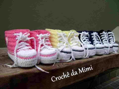 Sapatinhos para bebe All Star by Crochê da Mimi