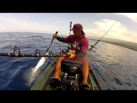 Extreme Kayak Fishing Hawaii - REEL TRIPZ 5 - BIG ISLAND ACTION  - kayak fishing, kayak photos, kayak videos