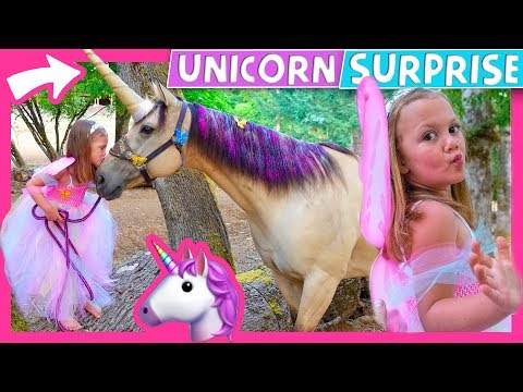 🦄 😍 Surprising Kid With A Real Unicorn!  🎠 😱