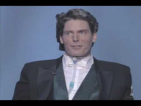 Reeve - Christopher Reeve introducing a film montage recognizing how Hollywood has tackled social issues. 68th Annual Academy Awards®in 1996.