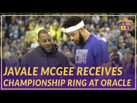 Video: Lakers Nation: JaVale McGee Receives Championship Ring At Oracle Arena