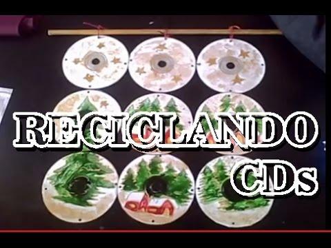 MANUALIDADES RECICLANDO CDs