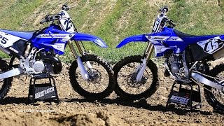 8. 2016 Yamaha YZ 125 & YZ250 2 strokes head to head - Dirt Bike Magazine