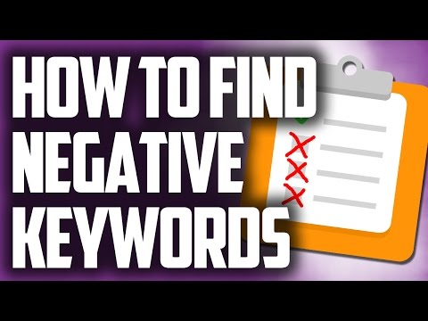 Creating a negative keyword list for ppc campaigns