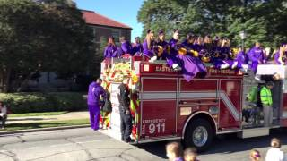 Parts of the 2015 ECU Homecoming Parade in Greenville, NC. Purple! Gold! Go Pirates!