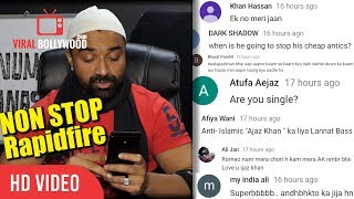 Video Ajaz Khan NON-STOP Rapid-fire Reply   Q&A Ajaz Khan   Viralbollywood MP3, 3GP, MP4, WEBM, AVI, FLV Oktober 2018
