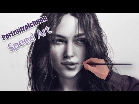Keira Knightley Portrait malen/zeichnen nach Foto