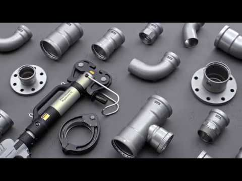 Viega Megapress S XL опрессовка стальных труб по ГОСТ 10704-91 без сварки.