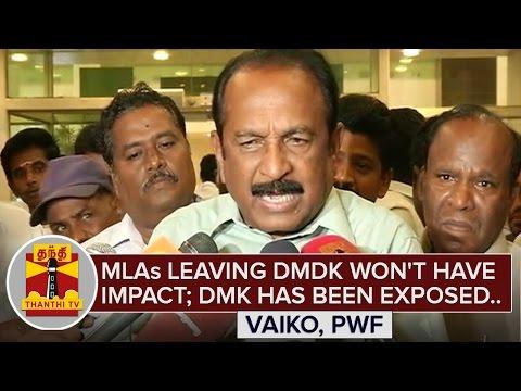 MLAs-leaving-DMDK-wont-have-Impact-DMK-has-been-exposed--Vaiko-ThanthI-TV