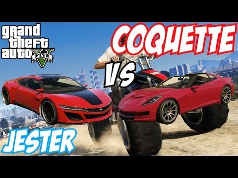 jester - GTA 5 Online car comparison video today, showcasing you Dinka Jester Vs Coquette available from the New GTA 5