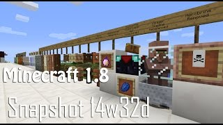 You don't have 30 minutes to look at all the changes to the game?  That's ok, today we take a QUICK look at many of the changes to expect in Minecraft 1.814w02b http://www.youtube.com/watch?v=iUviTgjWV9M14w04a/b http://www.youtube.com/watch?v=oMXSBozy6Qc14w11a/b http://www.youtube.com/watch?v=HQDszBvULHg14w32a http://www.youtube.com/watch?v=P668sRZ29O014w32d http://www.youtube.com/watch?v=GntSRDcd1ic