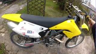 1. SUZUKI RM-Z 250 2004 cold start and review