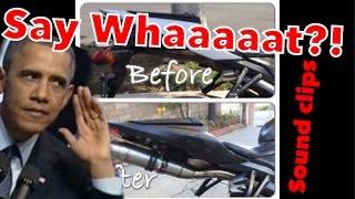 6. 2008 CBR 600RR Stock vs GPR exhaust sound clips Graffiti edition