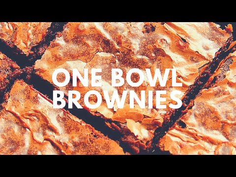 One Bowl Brownies Recipe | Crunchy Creamy Sweet
