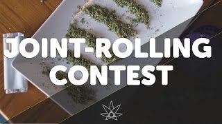 Blindfolded Joint Rolling Contest  //  420 Science Club by 420 Science Club