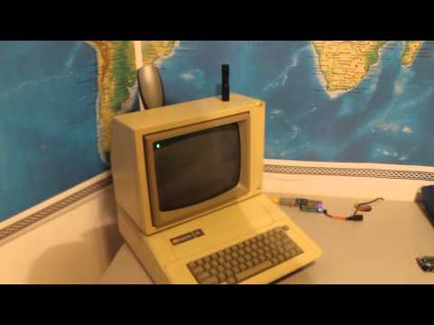 Apple II on the internet reading reddit
