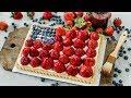 Strawberry + Blueberry Cookie Tart