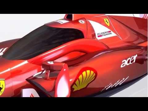 Formula 1 - Independent wings concept - closed cockpit+modified opened cockpit version