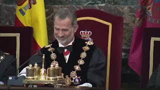 S.M el Rey preside la apertura del año judicial en el Tribunal Supremo