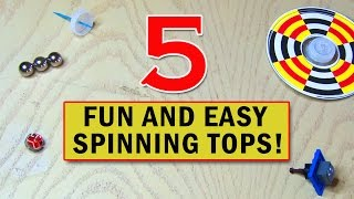 Here are 5 fun and easy spinning tops you can make! Thanks to Thumbtack for supporting my show! http://www.thumbtack.comPrevious Video: http://bit.ly/WhatswiththisPICKLENext Video: http://bit.ly/ToiletPaperPranked---------------------------Popular Playlists----------------------------LASERS: http://bit.ly/LaserProjectsEASY: http://bit.ly/EasyProjectsHACKS/MODS: http://bit.ly/HacksModsMore videos at: http://www.kipkay.comSubscribe to Kipkay: http://bit.ly/SubscribetoKipkayFollow on Instagram: https://www.instagram.com/kipkayvideos/Follow on Twitter: https://twitter.com/KipKayFacebook: https://www.facebook.com/KipkayVideosFor business and sponsorship inquiries, contact me at videos@kipkay.com