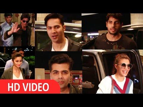 Shah Rukh Khan I Alia Bhatt I Katrina Kaif I Varun Dhawan Spotted At Airport