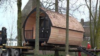 Boomhuthotel in het centrum van Leeuwarden
