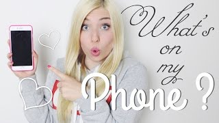 WHAT'S ON MY PHONE ? ♡ BibisBeautyPalace - YouTube