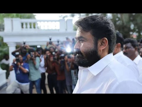 Mohanlal mass entry in Lucifer
