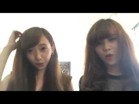 2 Hotgirl hát cover khuôn mặt đáng thương
