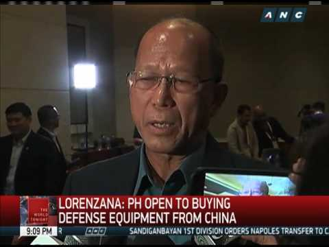 PH may buy arms from China despite territorial dispute