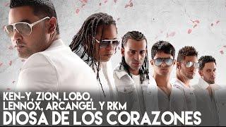 Ken-Y, Zion, Lobo, Lennox, Arcangel, RKM - Diosa de los Corazones (La Formula) [Lyric Video]