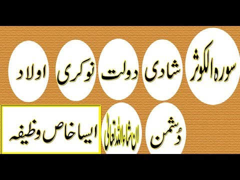 Surah Kosar Ka Wazifa For Dolat,Marriage,Job,Enemies,Aulad Powerful Wazifa For Any Hajat