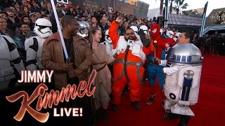 Guillermo at the Star Wars Red Carpet - YouTube