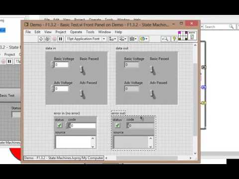 VI High 56 - How to Pass Data Between States in a LabVIEW State Machine - pt 1