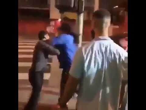 COCKY GUY IS KNOCKED OUT IN ONE PUNCH FOR SWINGING ON THE WRONG DUDE!