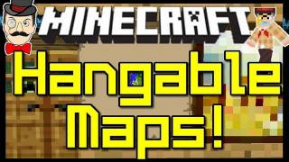 Minecraft Mods - HANG MAPS on WALL ! Put Maps on Any Surface Mod !