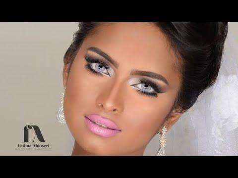 مكياج عروس للبشرة السمرة مع فاطمة الدوسري/bridal look for dark skin with fatima aldoseri (видео)