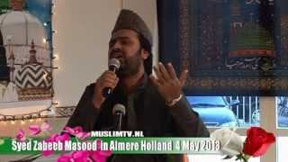 Syed Zabeeb Masood in masdjied Al Raza Almere 2013 Humse Zikre Huzoor Kya Hogha