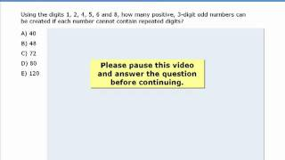 2. GMAT Prep - GMAT Math Practice Question - Counting - 3-Digit Odd Numbers